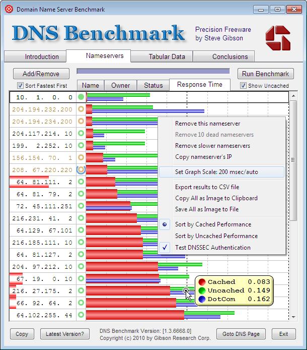 DNS Benchmark - The Portable Freeware Collection