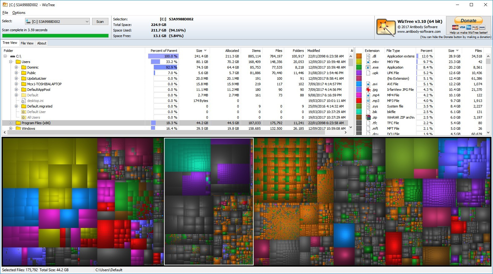WizTree - The Portable Freeware Collection