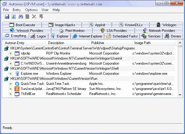 autoruns pour windows v8.61