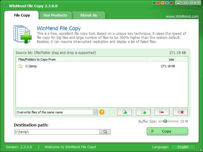 WinMend File Copy - The Portable Freeware Collection