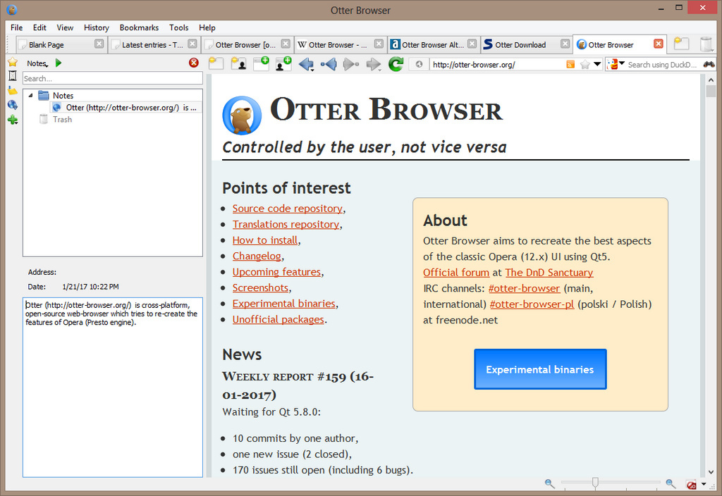 Otter Browser - The Portable Freeware Collection
