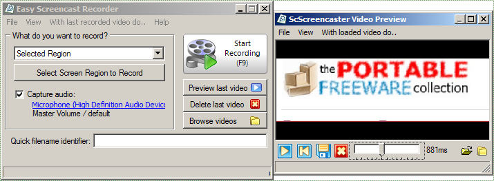 Easy Screencast Recorder - The Portable Freeware Collection