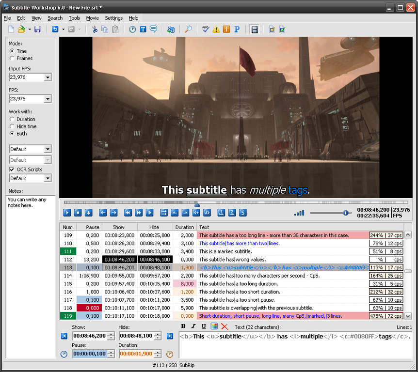 Subtitle Workshop - The Portable Freeware Collection