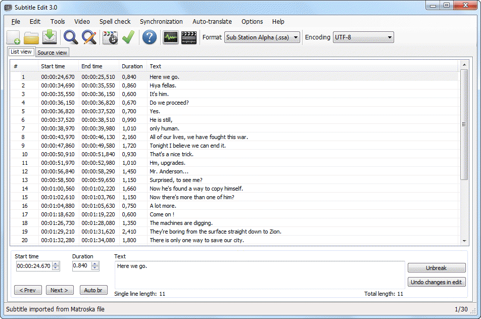 Subtitle edit the portable freeware collection open ccuart Image collections