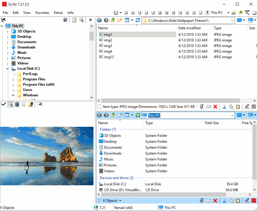 Q-Dir - The Portable Freeware Collection