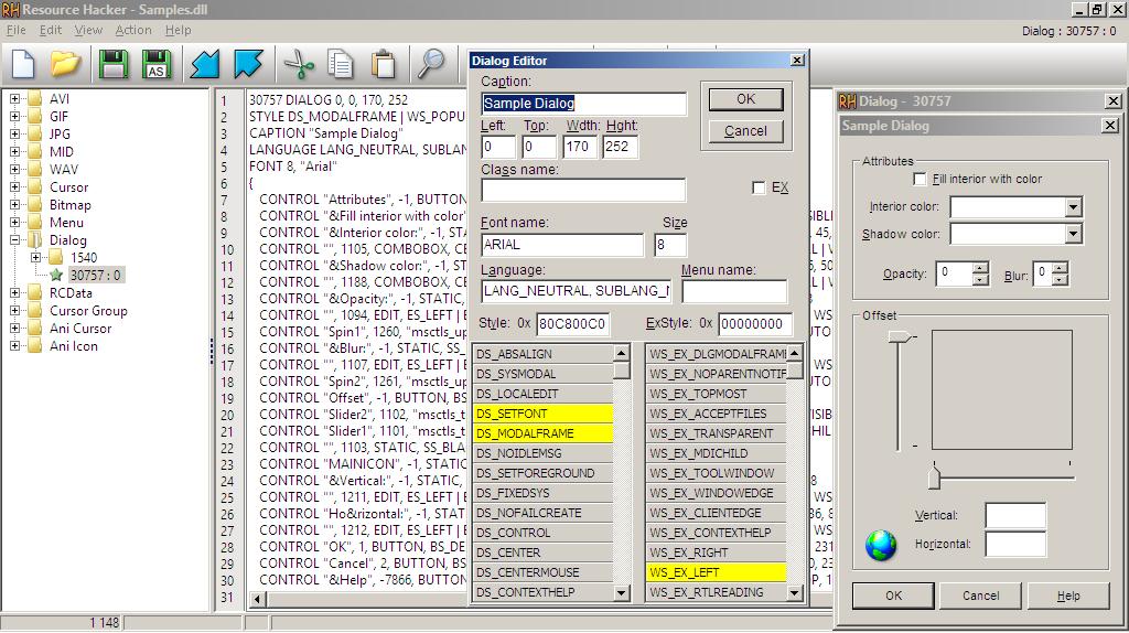 Xn resource editor portable freeware screenshot lightweight xn.