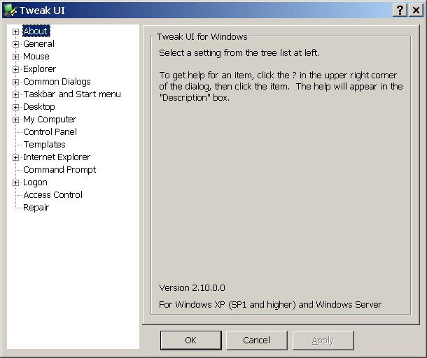 TweakUI - The Portable Freeware Collection