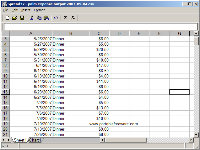 Productivity - Spreadsheets - The Portable Freeware Collection