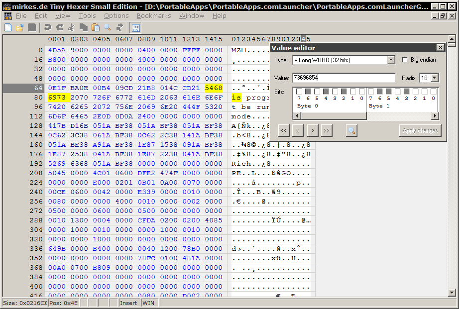 Programming - Hex Editors - The Portable Freeware Collection