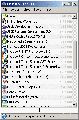Uninstall Tool - The Portable Freeware Collection