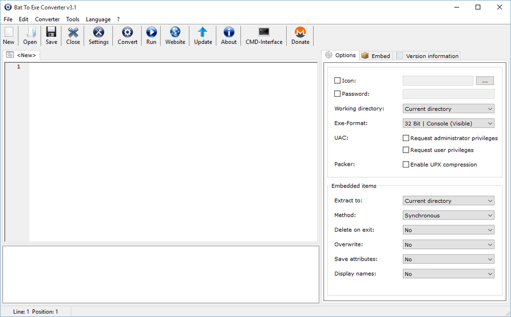 Bat To Exe Converter - The Portable Freeware Collection