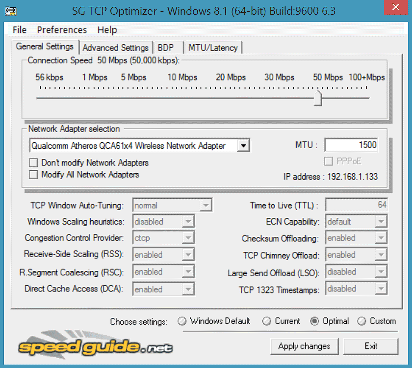 TCP Optimizer - The Portable Freeware Collection