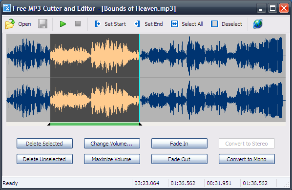 Free mp3 cutter and editor portable